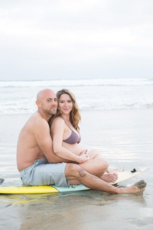 Loving Maternity Photos in Solana Beach | Waiting