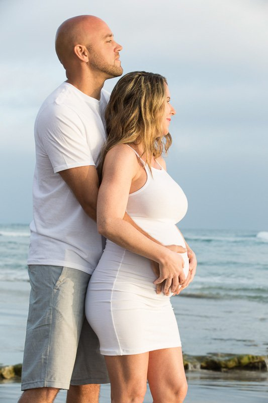 Loving Maternity Photos in Solana Beach | Close to Sunset