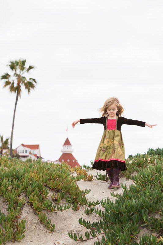 Coronado Family Photography - Hotel Del Coronado Sand Dunes
