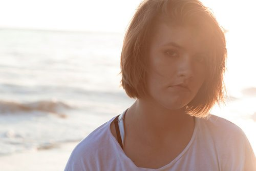 Encinitas Beach Photography: Portrait of Maura (Swami's State Beach)
