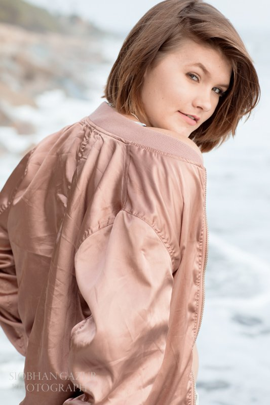 Girl with a jacket | Encinitas Beach Photography