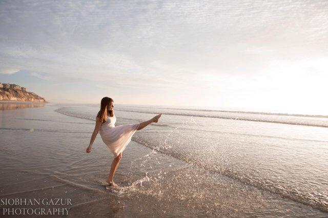 Solana Beach during Sunset Woman