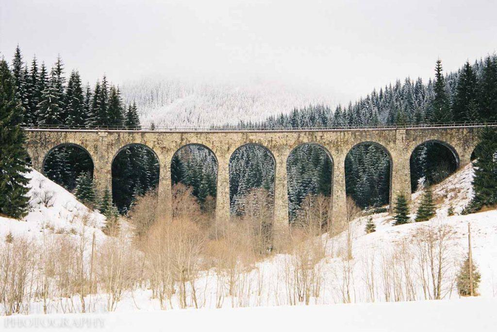 Bridge to High Tatras Winter | Travel Photography