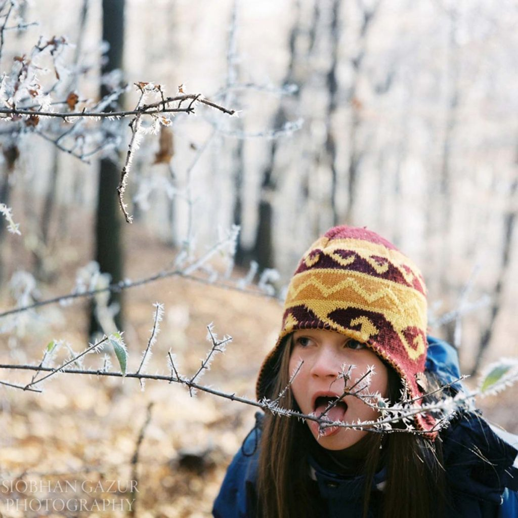 Eating Icicles | Portrait Photography