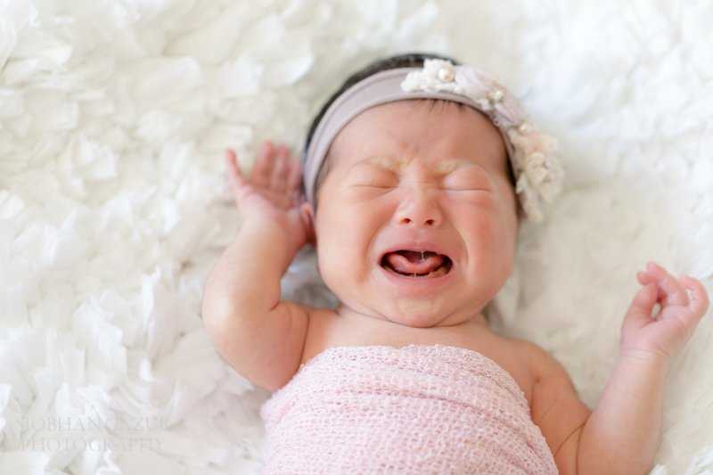 Crying | San Diego Newborn Photography