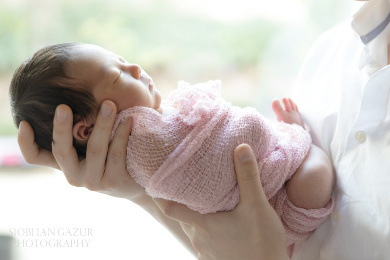 In Daddy's Hands | San Diego Newborn Photography