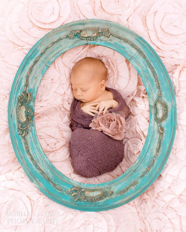 Baby in a Frame | San Diego Newborn Photography