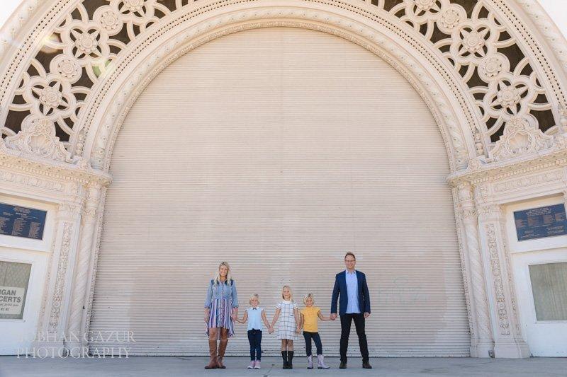 Balboa Park Family Photography | Spreckels Organ Pavilion