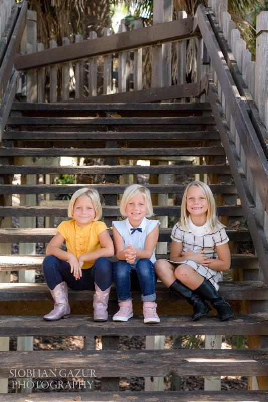 Balboa Park Family Photography | Children on Stairs